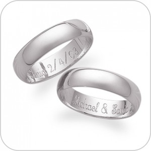 signet engagement wedding ring engraving engraved at our shop