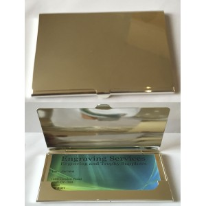 Silver Plated Business Card Holder 837
