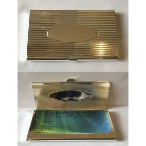 Silver Plated Business Card Holder 9851E