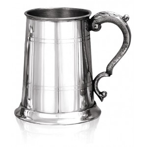 Double Banded Tankard with scroll handle