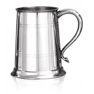 Double Banded Tankard With Round Handle